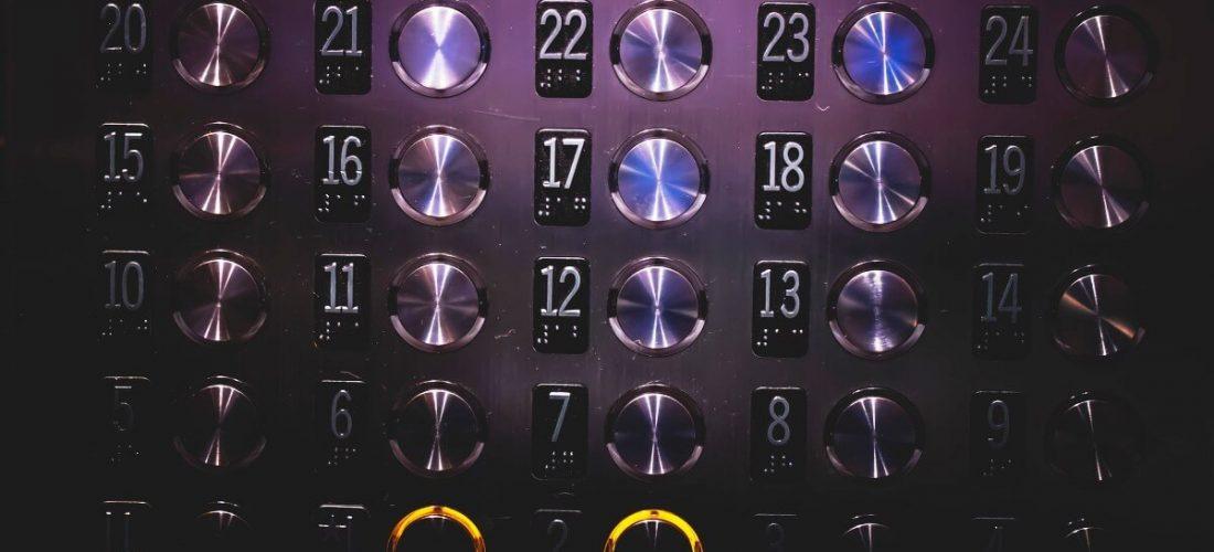 Elevator speech shows buttons
