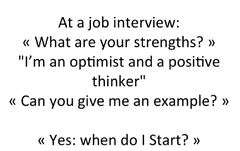 Example of a joke in a job interview