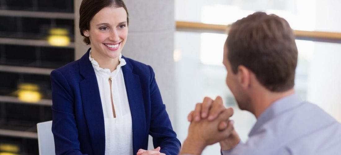 Woman beats job interview nerves