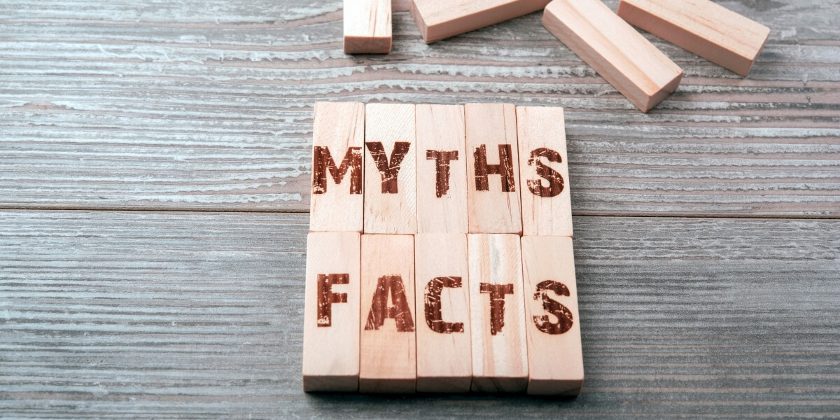 Outplacement myths and facts on puzzle pieces