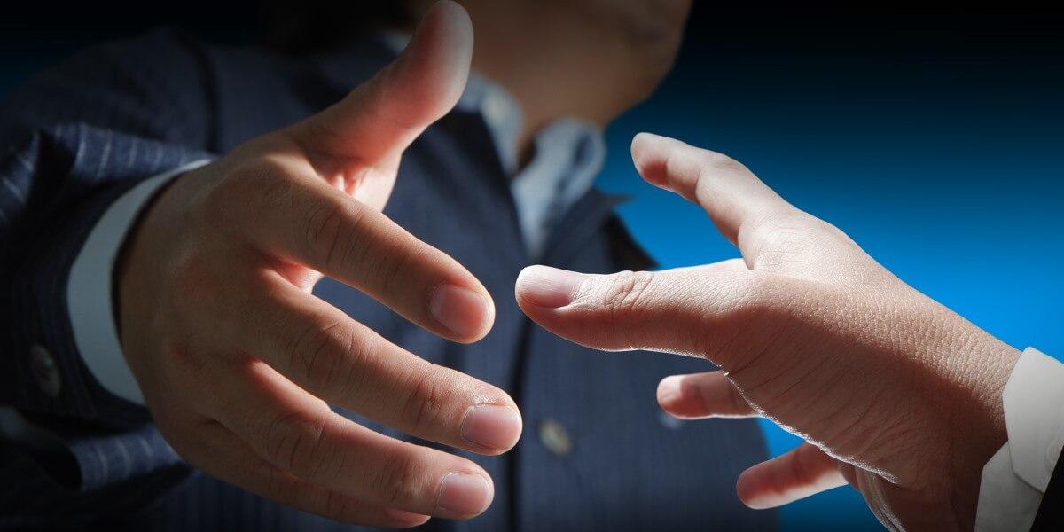 Handshake for job interview