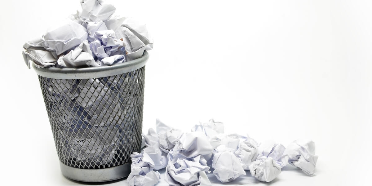 Include things that are bad for your resume and end up in bin