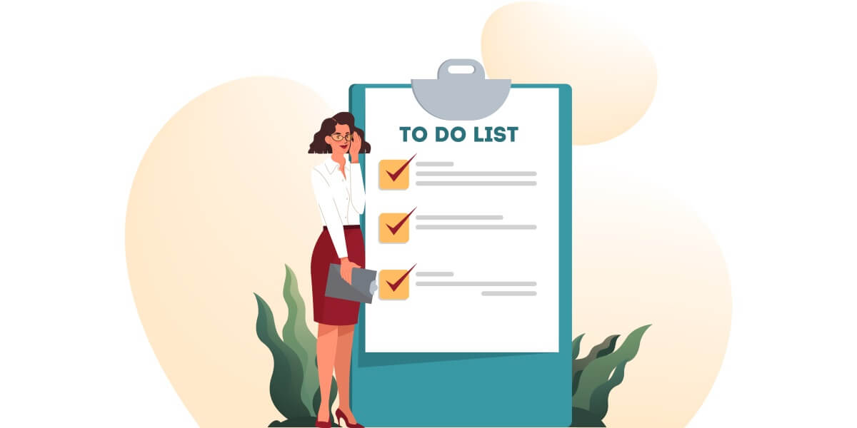 To do list for preparing for a job interview