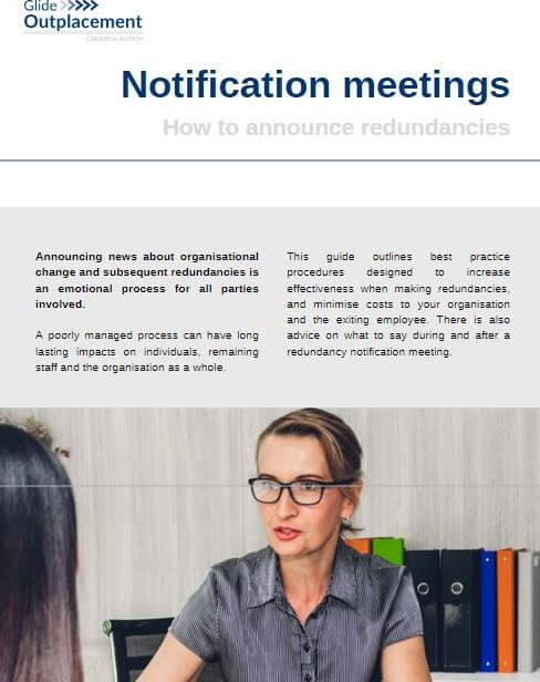 Manager telling employee their role is redundant in a notification meeting